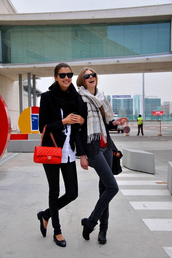 Models at Cibeles Madrid Fashion Week