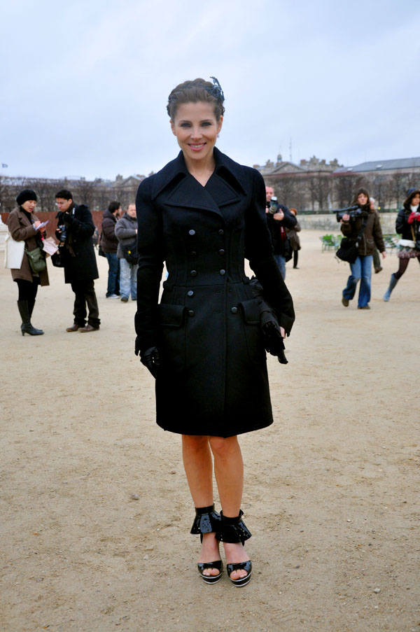 Elsa Pataky at Paris Fashion Week 2009